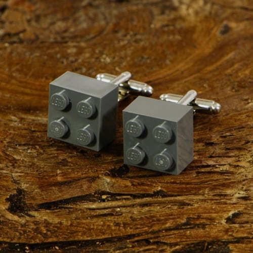 grey lego cufflinks