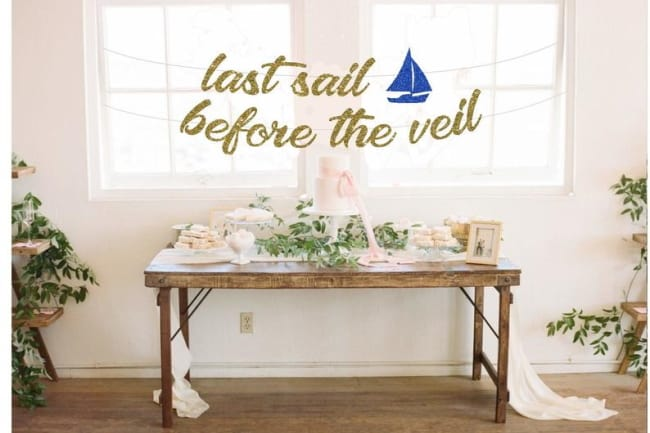 Last Sail Before the Veil gold sign