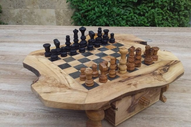Olive-Wood-Chess-Board