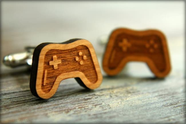 retro video game controller cufflinks