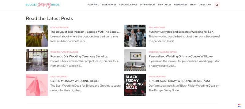 budget savvy bride home page
