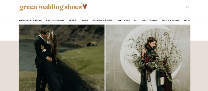 Green Wedding Shoes home page