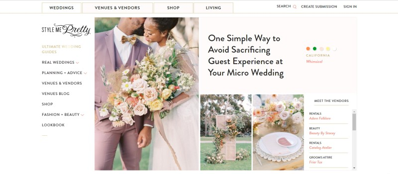 style me pretty home page