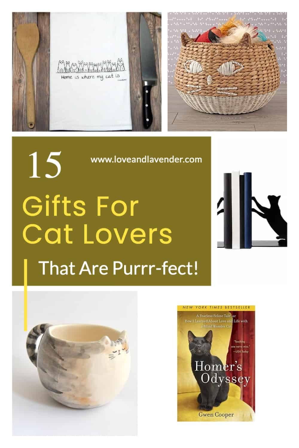 Pinterest Pin - Gifts for Cat Lovers