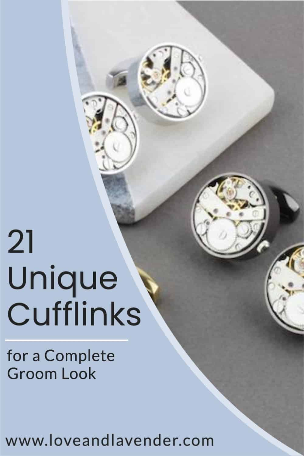 Pinterest Pin - Unique Cufflinks