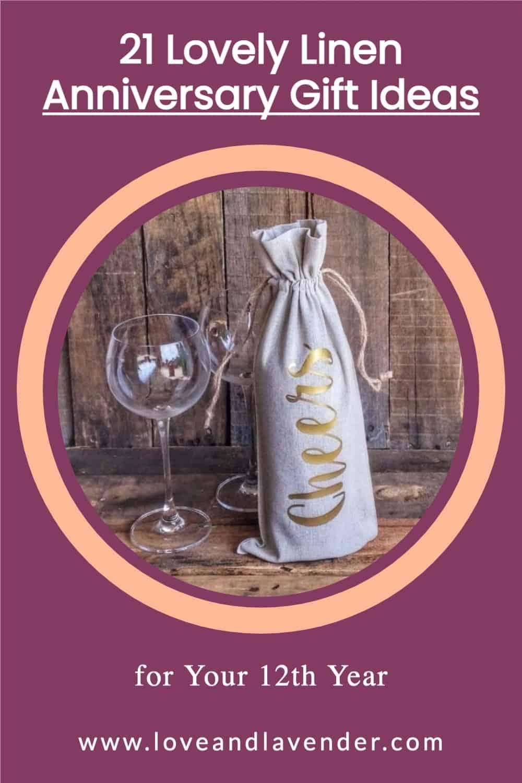 Pinterest Pin - Linen Anniversary Gifts