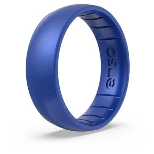 blue silicone men's wedding band