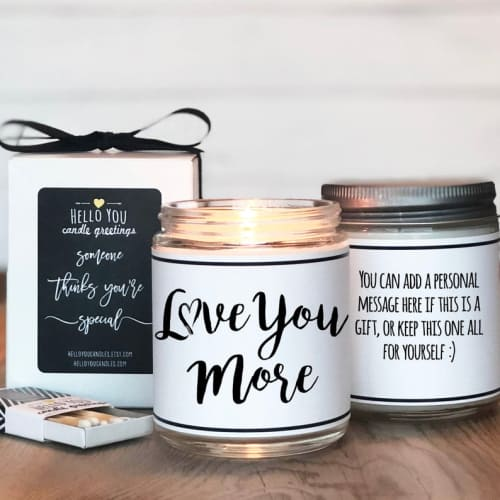 'i love you more' candle