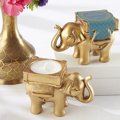 lucky elephant tealight holder