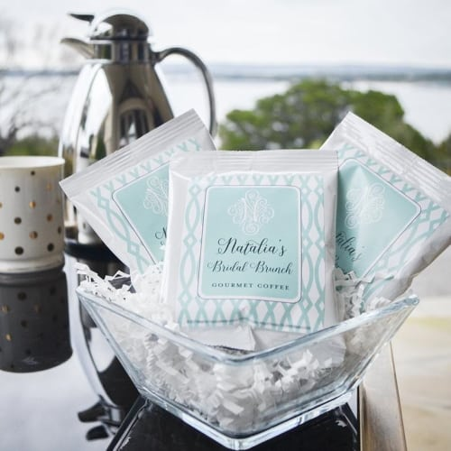 personalized gourmet coffee wedding favors