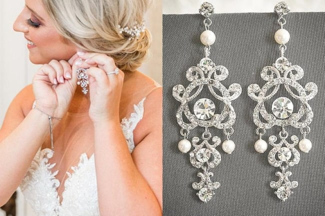 10 Chandelier Earrings To Raise Your, Bridal Chandelier Earrings With Pearls