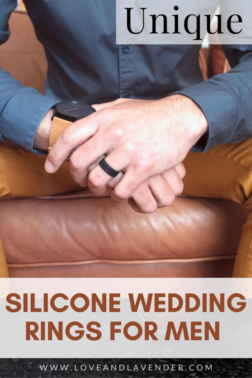 pinterest pin - silicone men's wedding bands
