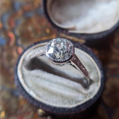 1930's European Cut Diamond Engagement Ring