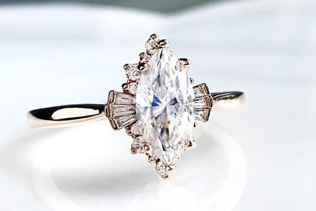 Marquise Vintage Engagement Ring