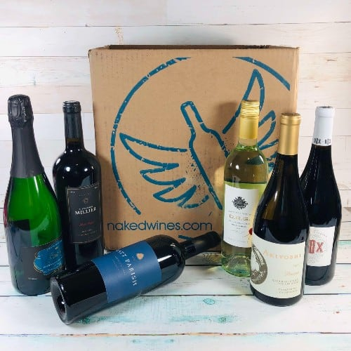 Naked Wines subscription box