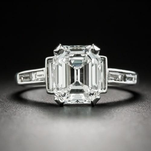 Vintage Van Cleef and Arpels Emerald Cut Diamond Ring