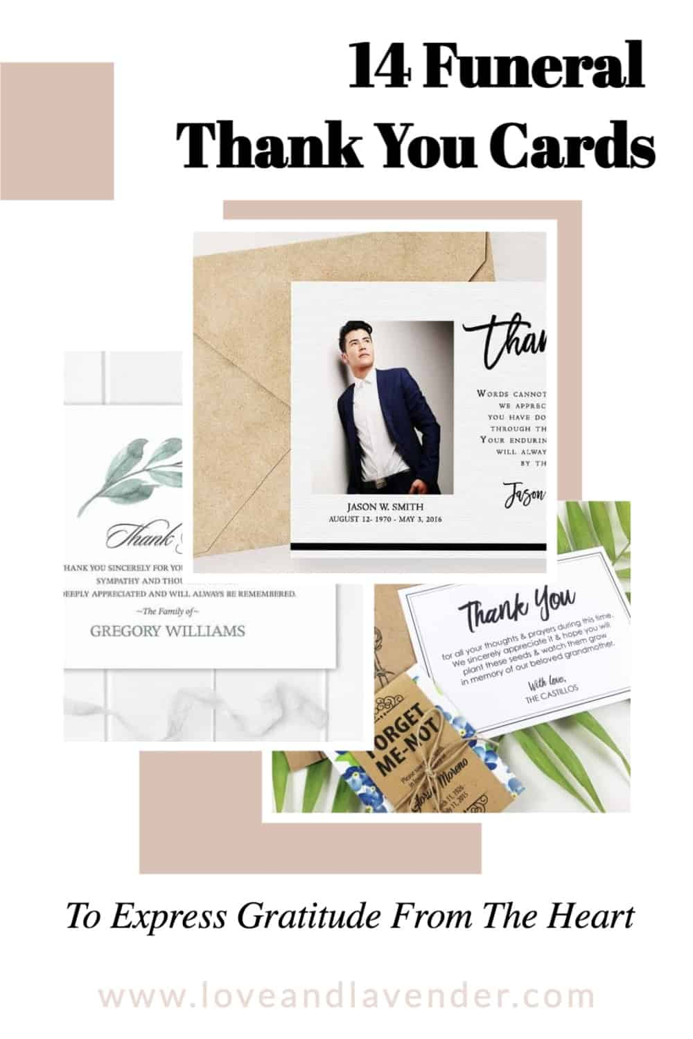pinterest pin - funeral thank you cards