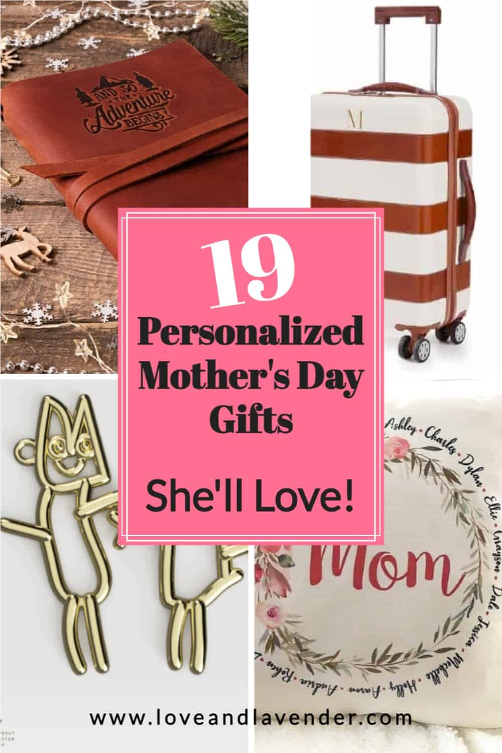 pinterest pin - personalized mothers day gifts
