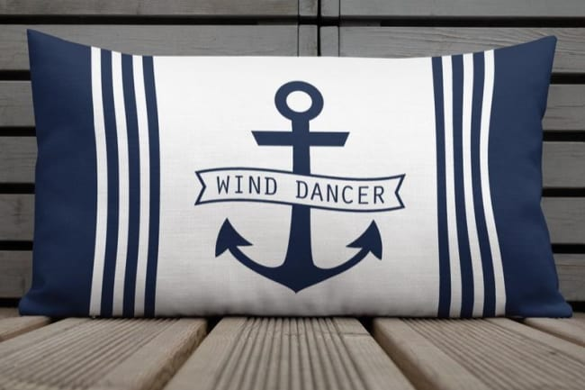 personalized pillow with anchor
