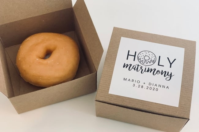 donut favor box