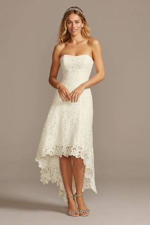 lace high-low wedding dress