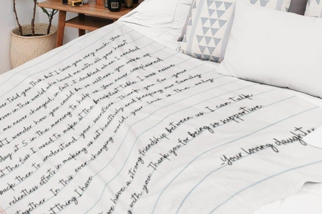 Love Letter Personalized Blanket