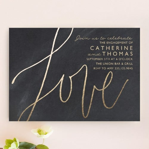 Love Letters Engagement party invitation