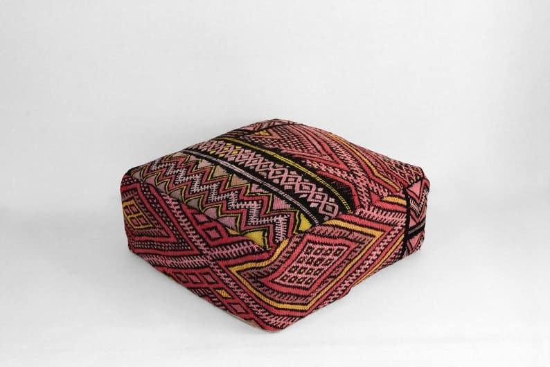 Vintage Moroccan floor pillow