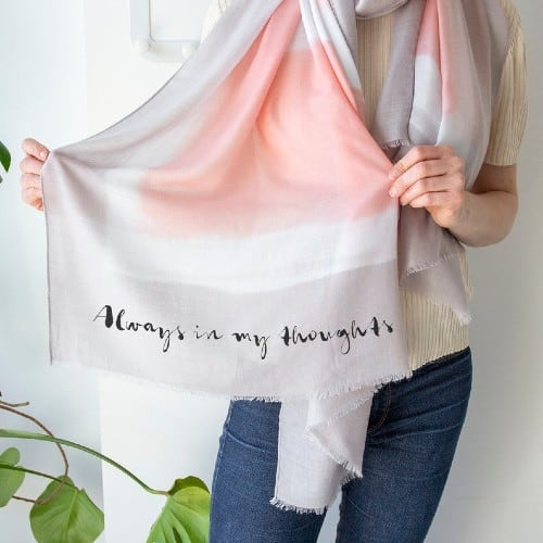 Personalized Colorblock Scarf