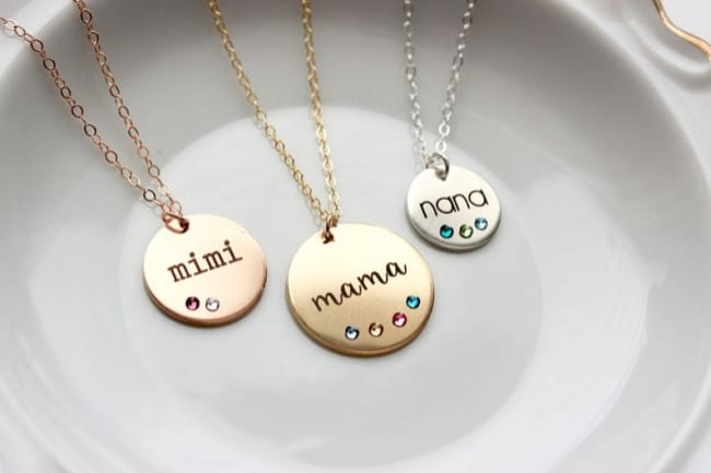 Personalized Mothers Day Necklace