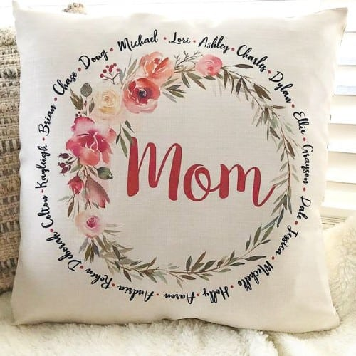 Personalized Names Pillow for Mom