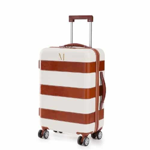 Personalized Leather Carry-On Luggage
