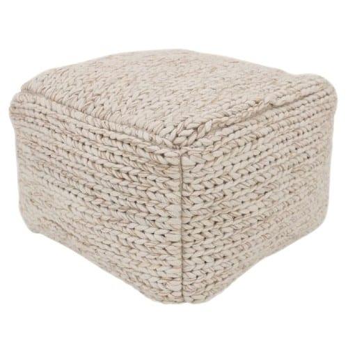 Sweater Knit Pouf