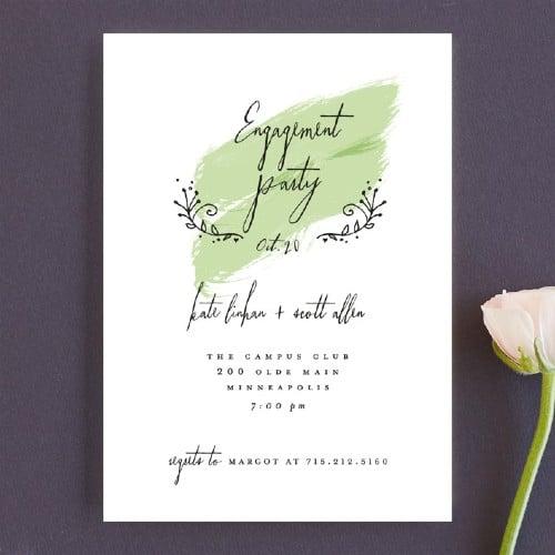 Tiny Hearts Engagement party invitation