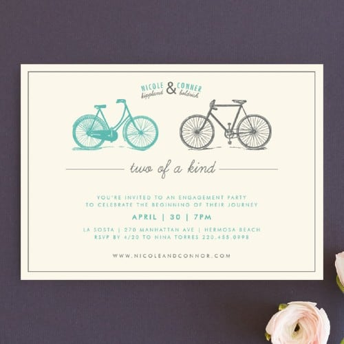 Two of a Kind Engagement party invitation