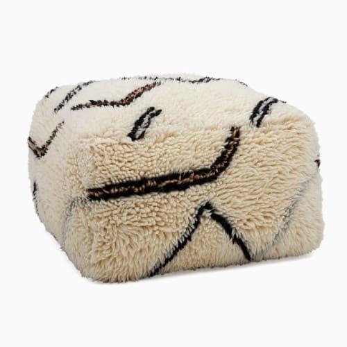 Wanderer Shag Pouf floor pillow