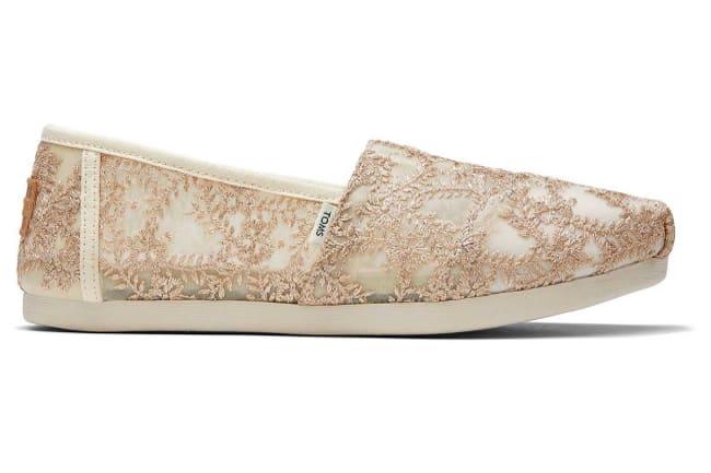 toms metallic floral alpargata shoe
