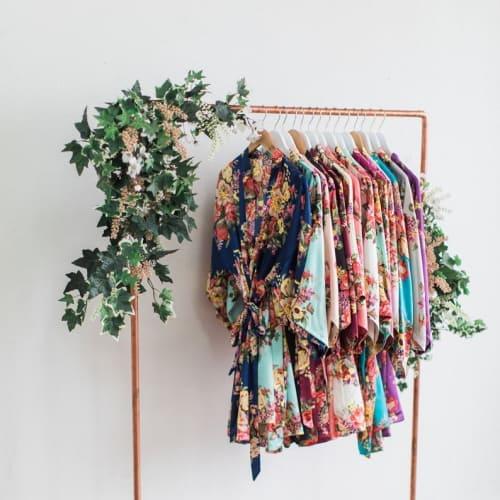 floral print kimono style robe