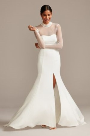 Long Sleeve Affordable ​Wedding Dress