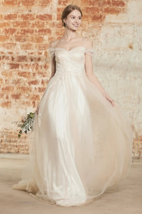 renzrags ivory lace formal gown