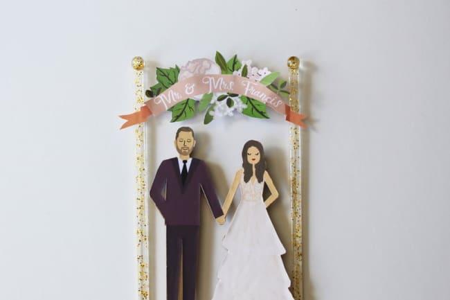 illustrated cake topper