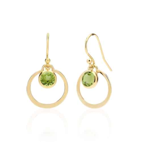 gold and peridot earrings