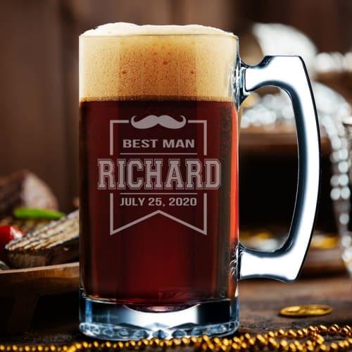 personalized best man beer mug