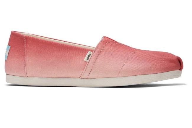 pink gradient toms shoe