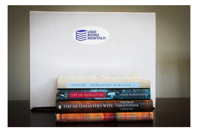 Used Books Monthly  book subscription box