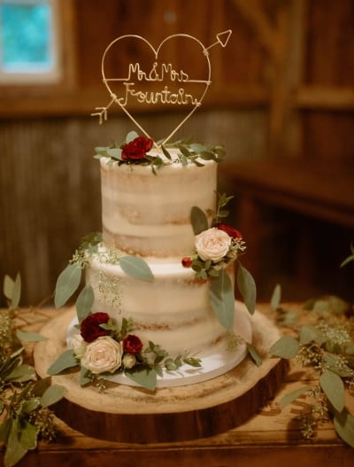 personalized wire cake topper