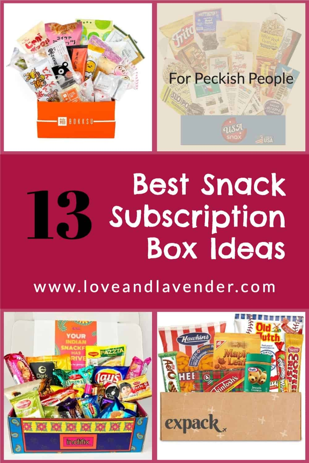 pinterest pin - best snack subscription boxes