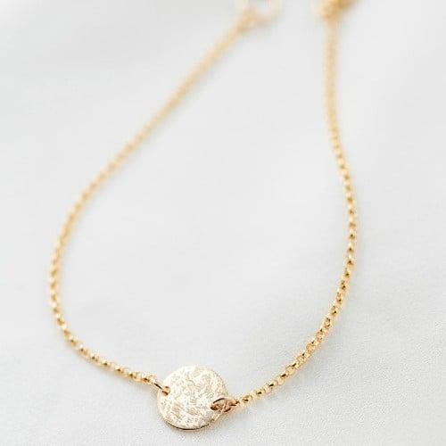 Simple Pendant Fingerprint Bracelet