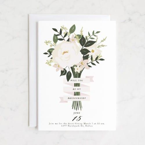 Bridesmaid Bouquet bridesmaid proposal card
