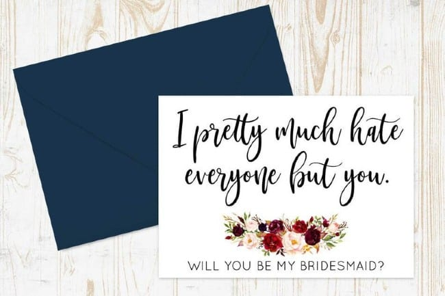 Sweet and Salty Bridesmaid Proposal Cards
